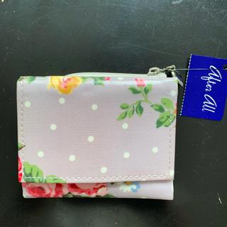 花柄 三つ折りウォレット(日本製)(折り財布)