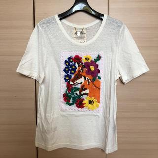 ミュベールワーク(MUVEIL WORK)のミュベール 刺繍Tシャツ美品希少(Tシャツ(半袖/袖なし))