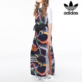 アディダス(adidas)の美品 アディダスオリジナルス マキシワンピース(ロングワンピース/マキシワンピース)