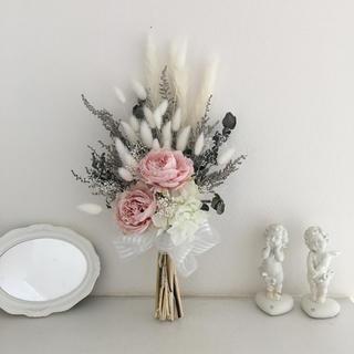 ⌘ ミニブーケ ⌘ ピンク ⌘ 母の日 ⌘(ドライフラワー)