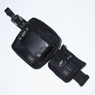 トーガ(TOGA)のTOGA × PORTER ボディーバッグ Black 黒 ブラック(ボディーバッグ)