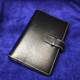 ホワイトハウスコックス(WHITEHOUSE COX)のホワイトハウスコックス システム手帳ポケットサイズ ブラック(手帳)