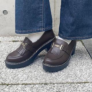 ワンアフターアナザーナイスクラップ(one after another NICE CLAUP)のZOZO限定 フリンジローファー(ローファー/革靴)