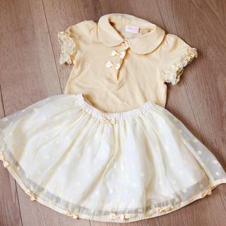 シャーリーテンプル(Shirley Temple)のシャーリーテンプル ドットリボンセット90(Tシャツ/カットソー)