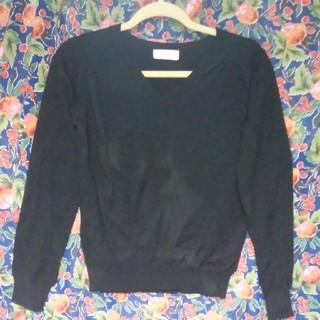 アイアイエムケー(iiMK)の黒VネックセーターM♪♪♪(ニット/セーター)