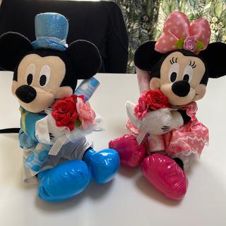 ディズニー(Disney)のミッキー ミニー 電報ぬいぐるみ(ウェルカムボード)