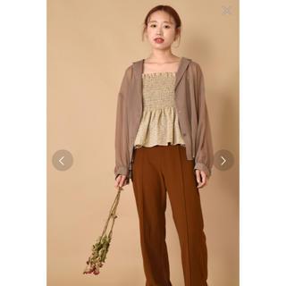 ダブルクローゼット(w closet)のシアーシャツ×ドットビスチェセット(シャツ/ブラウス(長袖/七分))