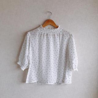 ダブルクローゼット(w closet)のw closet ちょびっとハイネックブラウス(シャツ/ブラウス(半袖/袖なし))