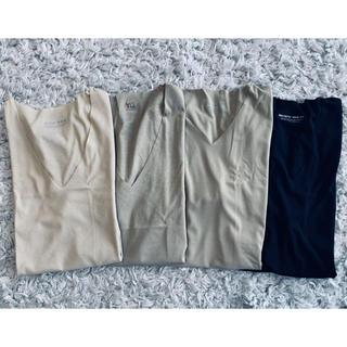 グンゼ(GUNZE)の吸汗即快 グンゼ メンズ インナー Vネック Tシャツ 4枚セット ベージュ 黒(Tシャツ/カットソー(半袖/袖なし))