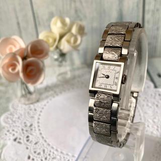 アガット(agete)の【美品】agete アガット 腕時計 シルバー スクエア アンティーク調(腕時計)