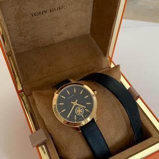 トリーバーチ(Tory Burch)のトリーバーチ TORY BURCH 腕時計 tb1303 ネイビー 二重革ベルト(腕時計)