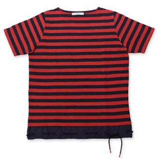エフィレボル(.efiLevol)のエフィレボル .efilevo ヘムコードボーダーTシャツ(Tシャツ/カットソー(半袖/袖なし))