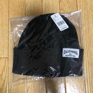クイックシルバー(QUIKSILVER)のQUIK SILVER ニット帽 黒(ニット帽/ビーニー)
