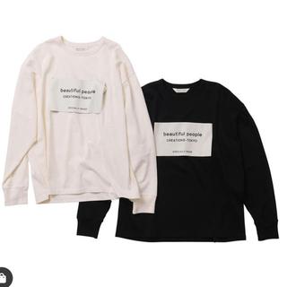 ビューティフルピープル(beautiful people)の新品未使用 ビッグネームタグロングTシャツ 38 ブラック(Tシャツ/カットソー(七分/長袖))