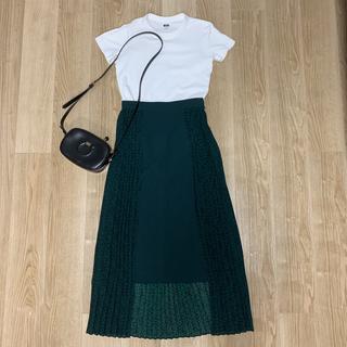コンバース(CONVERSE)の【美品】CONVERSE TOKYO×CLANE スタープリントプリーツスカート(ロングスカート)