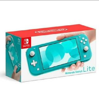 ニンテンドースイッチ(Nintendo Switch)の【新品未使用品 早い者勝ち!】ニンテンドースイッチライト ターコイズ(家庭用ゲーム機本体)