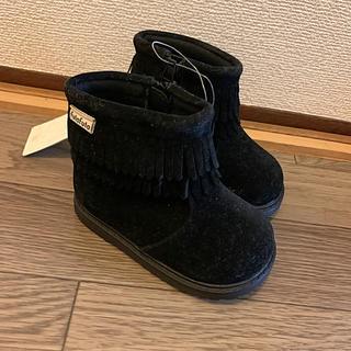 フタフタ(futafuta)のfuta futa フリンジブーツ 14cm(ブーツ)