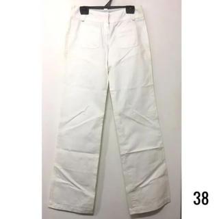 エラドフランス(ERAD FRANCE)の新品 仏製 TARA JARMON  前ポケットワイドパンツ BLANC 38 (カジュアルパンツ)