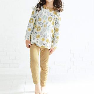 ブリーズ(BREEZE)のBREEZE ブリーズ ドット花柄 かぶりパジャマ 130cm イエロー(パジャマ)