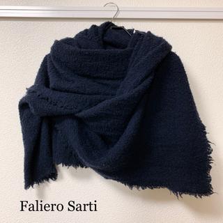 ファリエロサルティ(Faliero Sarti)のFalieroSarti ファリエロサルティ ネイビー ストール(マフラー/ショール)