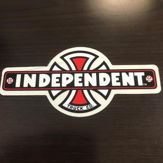 インディペンデント(INDEPENDENT)の【縦5.3cm横11.5cm】independent ステッカー(スケートボード)
