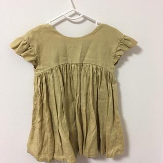 キャラメルベビー&チャイルド(Caramel baby&child )のjune little closet 肩落ちフリルのワンピース(ワンピース)