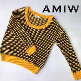 アミウ(AMIW)のAMIW【アミウ】透かし編みニット(ニット/セーター)