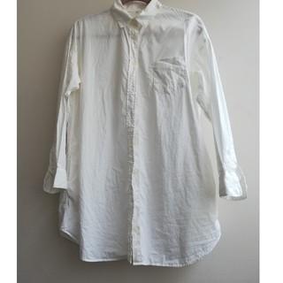 ムジルシリョウヒン(MUJI (無印良品))の無印良品 MUJI シャツワンピース ロングシャツ ホワイト(シャツ/ブラウス(長袖/七分))