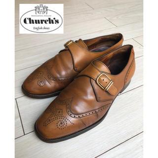 チャーチ(Church's)の☆旧church'sモンクストラップ☆ビンテージウイングチップ(フルブローグ)(ドレス/ビジネス)