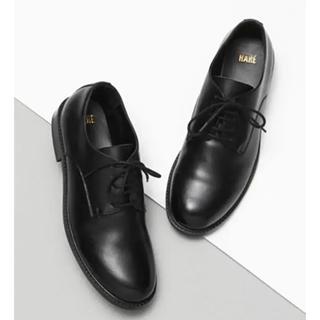 ハレ(HARE)の専用 新品✩︎HARE 革靴 プレーントゥシューズ 靴 ブラック 黒(ドレス/ビジネス)