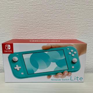 ニンテンドースイッチ(Nintendo Switch)の新品未開封 ニンテンドースイッチ ライト 本体 ターコイズ(家庭用ゲーム機本体)