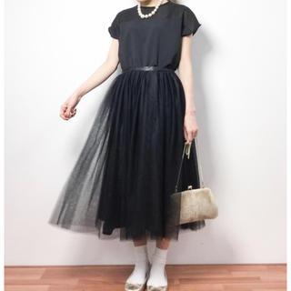 メルロー(merlot)のデコルテシースルー ワンピース(ミディアムドレス)