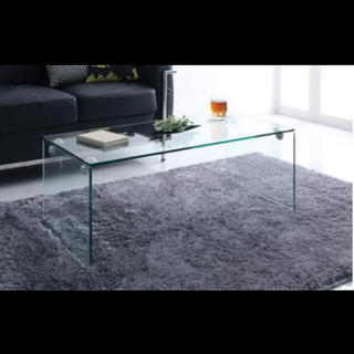 フランフラン(Francfranc)のガラステーブル 美品 100cm 兵庫県 神戸市 直接お引き取り(ローテーブル)