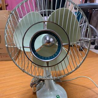 ミツビシ(三菱)の三菱扇風機 レトロなミントグリーン(扇風機)