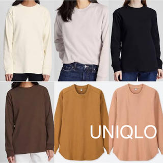 ユニクロ(UNIQLO)のユニクロ コットンリブクルーネックT(Tシャツ(長袖/七分))