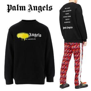 2 PALM ANGELSスプレープリント スエット トレーナー size XL(スウェット)