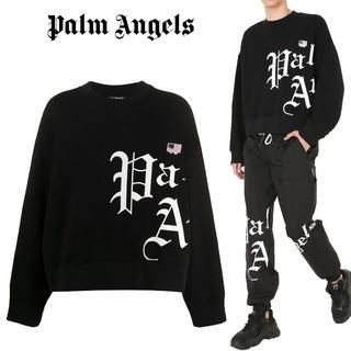 3 PALM ANGELS ブラック スエット トレーナー size S(スウェット)