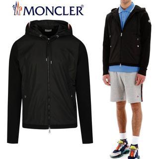 モンクレール(MONCLER)の22 MONCLER ブラック ジップアップパーカー XL(パーカー)