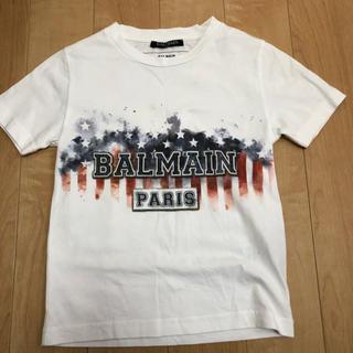 バルマン(BALMAIN)のバルマンロゴTシャツ半袖8A白 BALMAIN 130くらい(Tシャツ/カットソー)