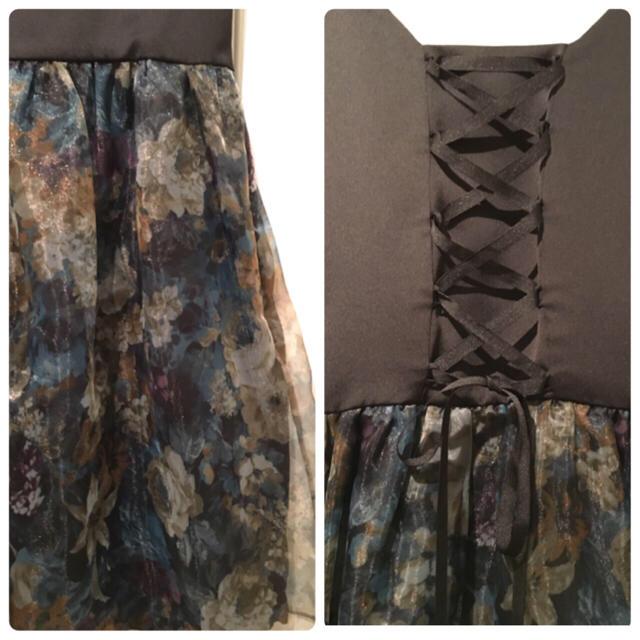 POWDER SUGAR(パウダーシュガー)のオーガンジードレス&ワインレッドドレス レディースのワンピース(ひざ丈ワンピース)の商品写真