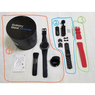 サムスン(SAMSUNG)のGalaxy Gear S3 frontier 国内正規品 (社外バンド2種付属(腕時計(デジタル))