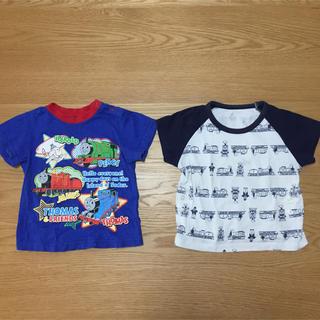 キッズ用半袖Tシャツ 90cm 2枚 きかんしゃトーマス(Tシャツ/カットソー)