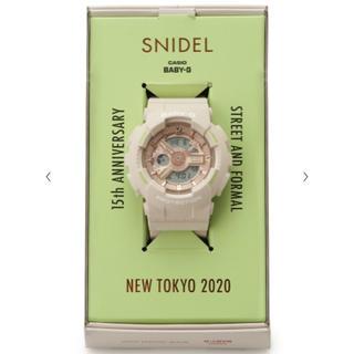 スナイデル(snidel)の即購入可能☆ SNIDEL × BABY-G のコラボ ウォッチ(腕時計)