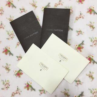 ルイヴィトン(LOUIS VUITTON)のLOUIS VUITTON メッセージカード入れ、封筒 各2つ(カード/レター/ラッピング)