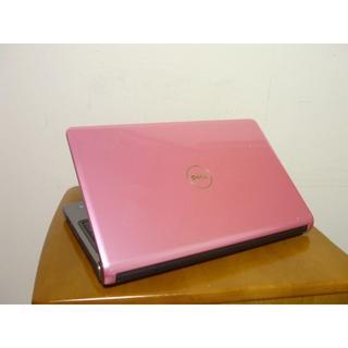 デル(DELL)の希少可愛いピンク天板 高性能i3搭載 HDD500G 最新win10(ノートPC)