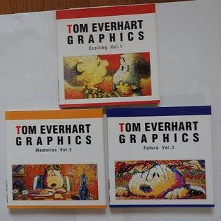 スヌーピー(SNOOPY)のトム・エバハートさんのスヌーピー画のミニブック3冊組(アート/エンタメ)