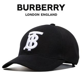 バーバリー(BURBERRY)の3 BURBERRY ベースボールキャップ 帽子 ブラック 男女兼用(キャップ)