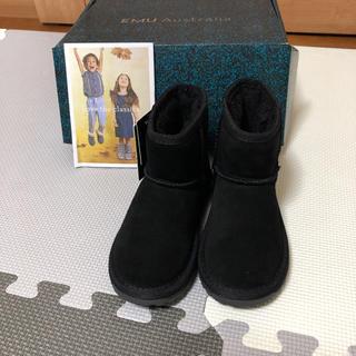 エミュー(EMU)のEMUムートンブーツ ブラック/サイズ14センチ/新品未使用(ブーツ)