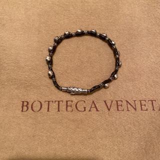 ボッテガヴェネタ(Bottega Veneta)のBOTTEGA ボッテガ  ブレスレット シルバー ブラウンレザー ユニセックス(ブレスレット)