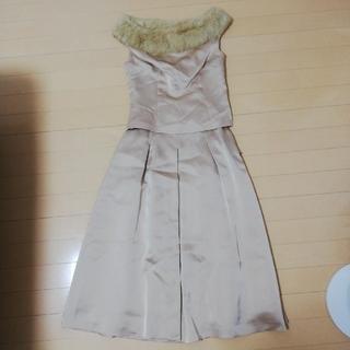 アトリエサブ(ATELIER SAB)のアトリエサブ ファー付ドレス(ミディアムドレス)